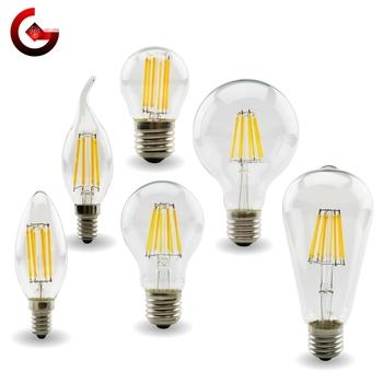 E27 E14 Retro Edison LED żarówka z żarnikiem lampy 220V-240V żarówka C35 G45 A60 ST64 G80 G95 G125 szklana bańka w stylu Vintage świeca światła tanie i dobre opinie GOT LIANG CN (pochodzenie) Ciepły biały (2700-3500 k) LED Filament Bulb 1 w wysokiej mocy Salon 250-499 Lumenów Globe