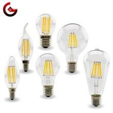 E27 E14 Retro Edison LED Filament Bulb Lamp 220V-240V Light Bulb C35 G45 A60 ST64 G80 G95 G125 Glass Bulb Vintage Candle Light