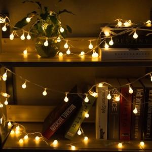 Image 2 - 110V 220V 10 M 20 M 30 M 50 M Opaco Palla Ha Condotto La Luce Della Stringa Ghirlanda di Natale per partito di Festa di Nozze a Casa Allaperto Impermeabile Decor
