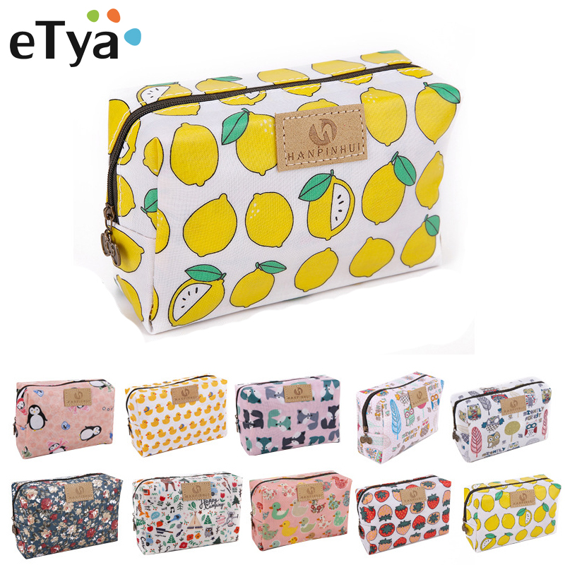 Portable Women Make Up Cosmetic Bag Waterproof Beauty Case Organizer Toiletry Kits Bags Wash Pouch Travel Essential Makeup Bag