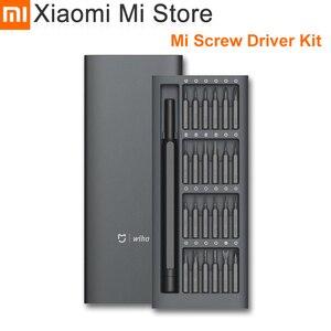 Image 1 - Xiaomi Kit de destornilladores Mijia Wiha, 24 brocas magnéticas de precisión, caja de aluminio, uso diario