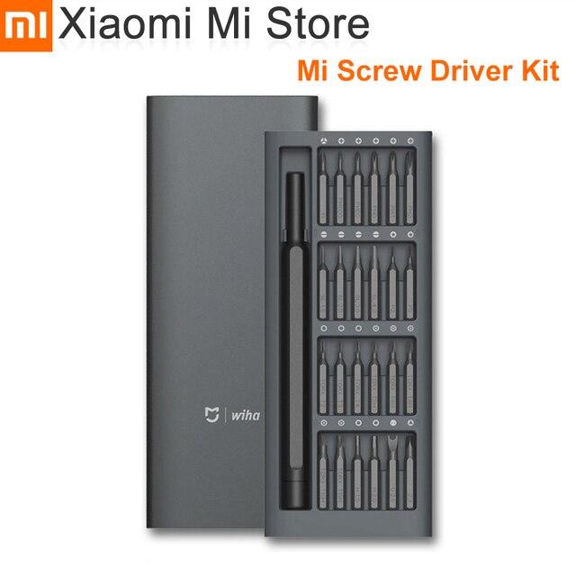 Xiaomi Kit de destornilladores Mijia Wiha, 24 brocas magnéticas de precisión, caja de aluminio, uso diario