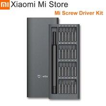 オリジナルxiaomi mijiaメーカー毎日使用するスクリュードライバーキット24精密磁気ビットスマートホームキットalluminumボックス