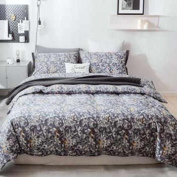 BBSET Fashion Simple Floral pattern home bedding sets bed linen duvet cover flat sheet Bedding Set Winter Full King Single Queen