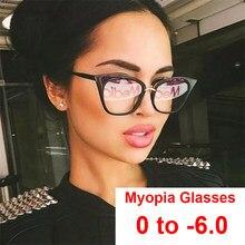 Gafas de miopía con filtro de ordenador para mujer, gafas de prescripción antifatiga, dioptrías de 0 a 6,0