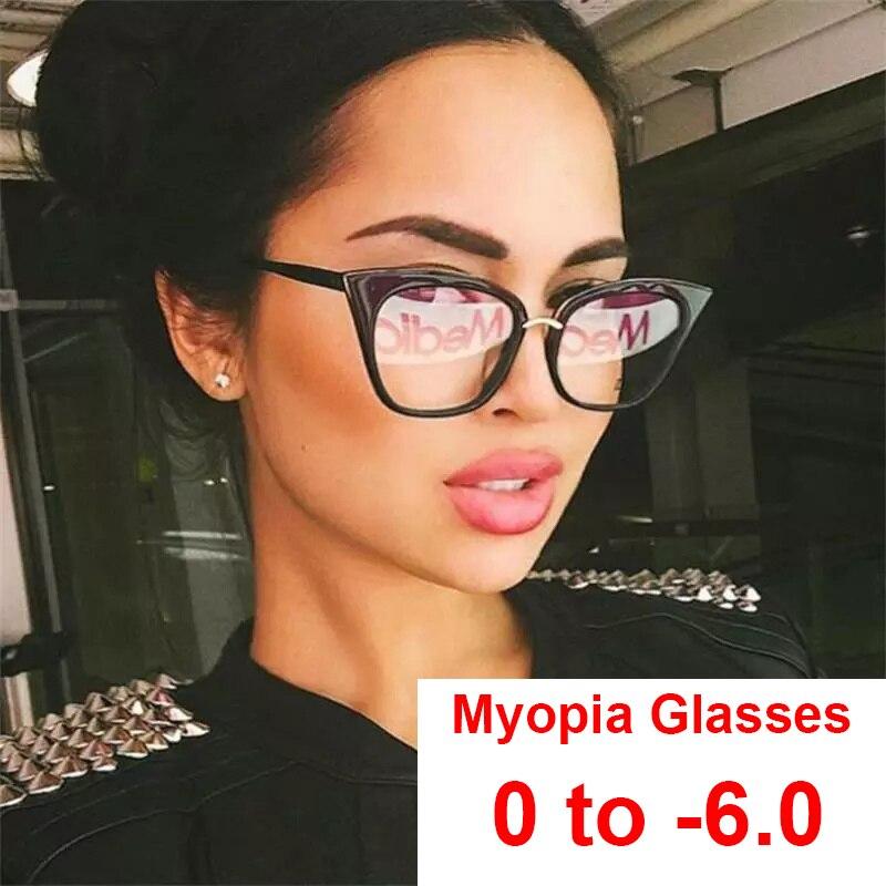 Gafas de miopía con filtro de ordenador para mujer, gafas de prescripción antifatiga con luz azul, dioptrías de 0 a 6,0
