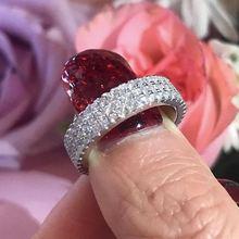 Кольцо с кристаллом из циркония aaa роскошное свадебное обручальное