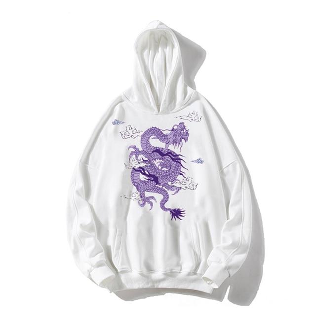 hoodies women Gothic Dragon Print moletom Vintage aesthetic ropa mujer Sweatshirts kpop velvet now united Hoodie clothes