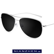 B titânio óculos de sol dos homens marca designer oversize aviador espelho polarizado óculos de sol nova aviação para homens tons 3001