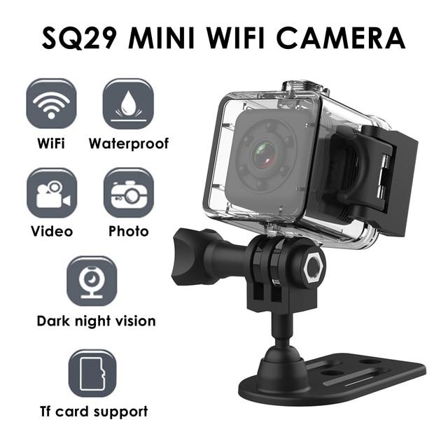 Camera Thể Thao SQ29 Mini Camera IP Quan Sát Ban Đêm Mini Chống Nước Chuyển Động Đầu Ghi Hình Micro Camera Thể Thao DV W/Chống Nước Vỏ VS SQ11