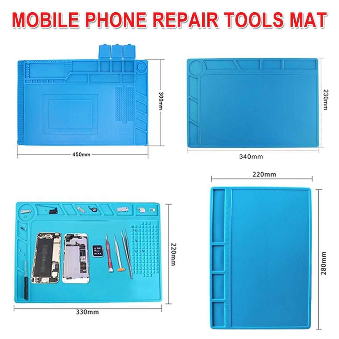 ESD Heat Insulation Working Mat Soldering Station Iron Phone Computer Repair Mat Heat-resistant BGA Insulator Platform