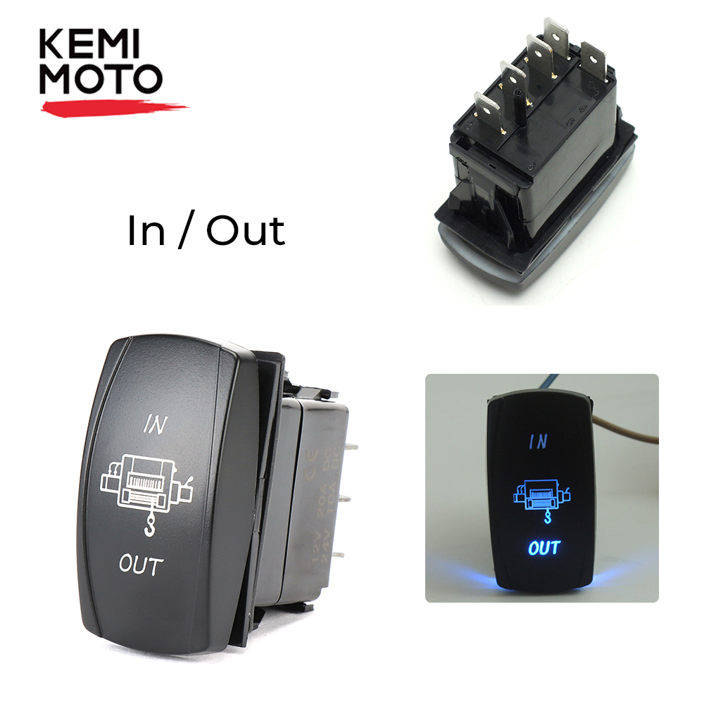 Blue LED Light Rocker Switch For Polaris RZR XP 900 1000 Ranger For John Deere Gator XUV UTV For Cam Am Maverick Boat Truck RVS