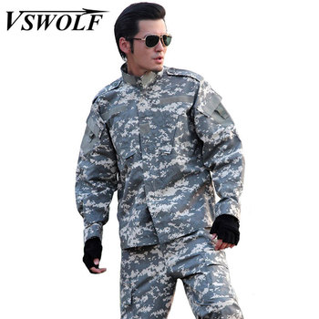 Tactical Suits Army Military Uniform Camouflage Suit Jacket +Pants Navy Seals SWAT Airsoft Paintball Suit Hunt War Game Clothing