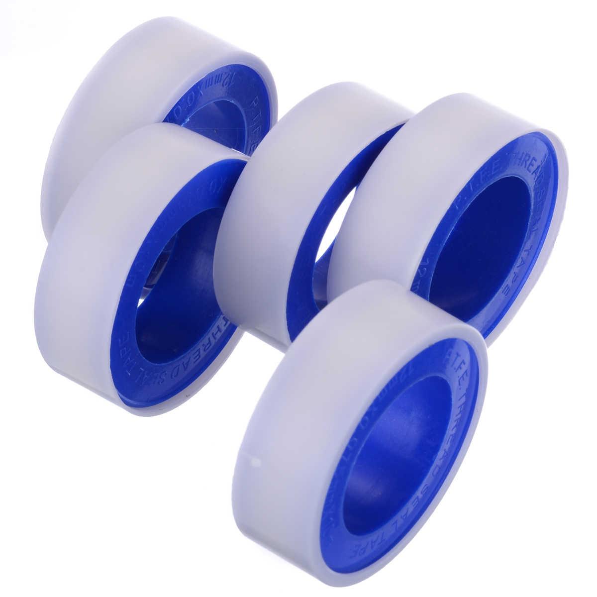 5PCS 10M Roll White Teflon Plumbing Fitting Water Sealing Pipe Thread Seal Tape
