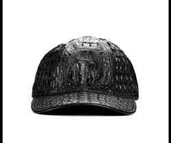 100% crocodile leather casual baseball cap unisex adjustable caps