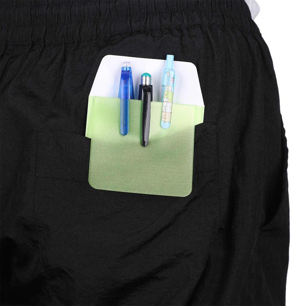 1 pc multi-color pocket protector à prova de vazamento pvc caneta bolsa saco médicos enfermeiros para caneta vazamentos material do hospital de escritório