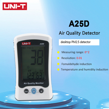 UNI-T A25D PM2.5 Testers Desktop Auto Range Air Quality Measurement Detector Temperature Humidity Monitor  Overload Indication