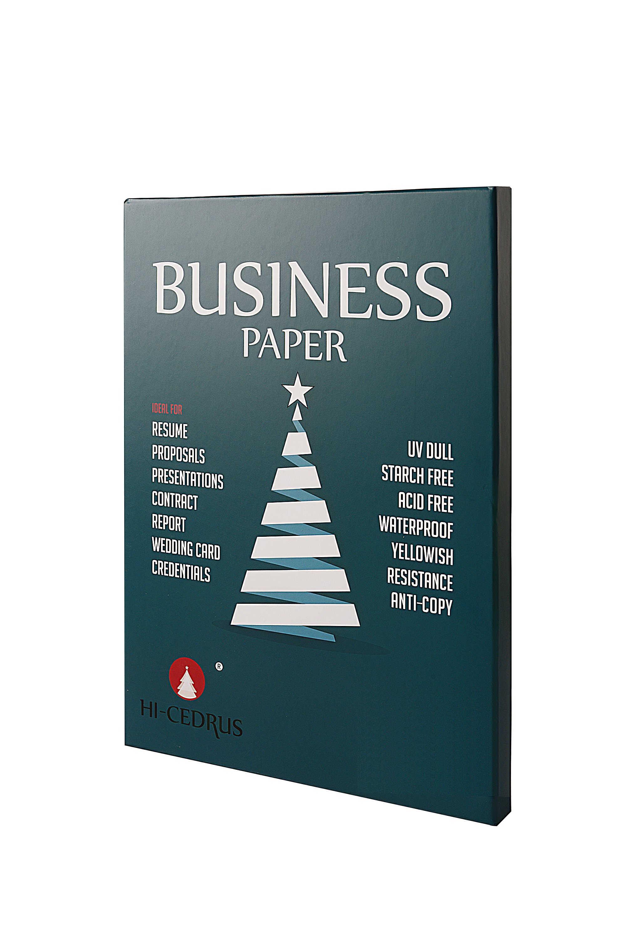 Security-Thread Paper White-Color A4-Size 75%Cotton Waterproof 90GSM Green 25%Linen CYT019