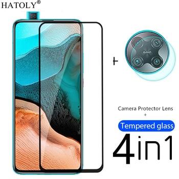 4in1 Protective Glass For Xiaomi Little Poco F2 Pro Tempered Glass For Poco M3 X3 NFC Redmi Note 9 Mi 10T Lite Screen Protector