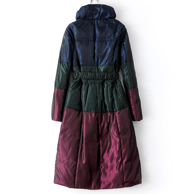 Winter Down Jacket Women X-Long Down Coat Female Thick Warm Clothes 2019 Korean Elegant Vintage Down Parkas Hiver 2220