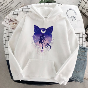 2020 New Oversize Pullover Sweatshirt Sailor Moon Anime Women Ullzang Harajuku Kawaii Hoodies For Teen Girls Hooded Long Sleeve