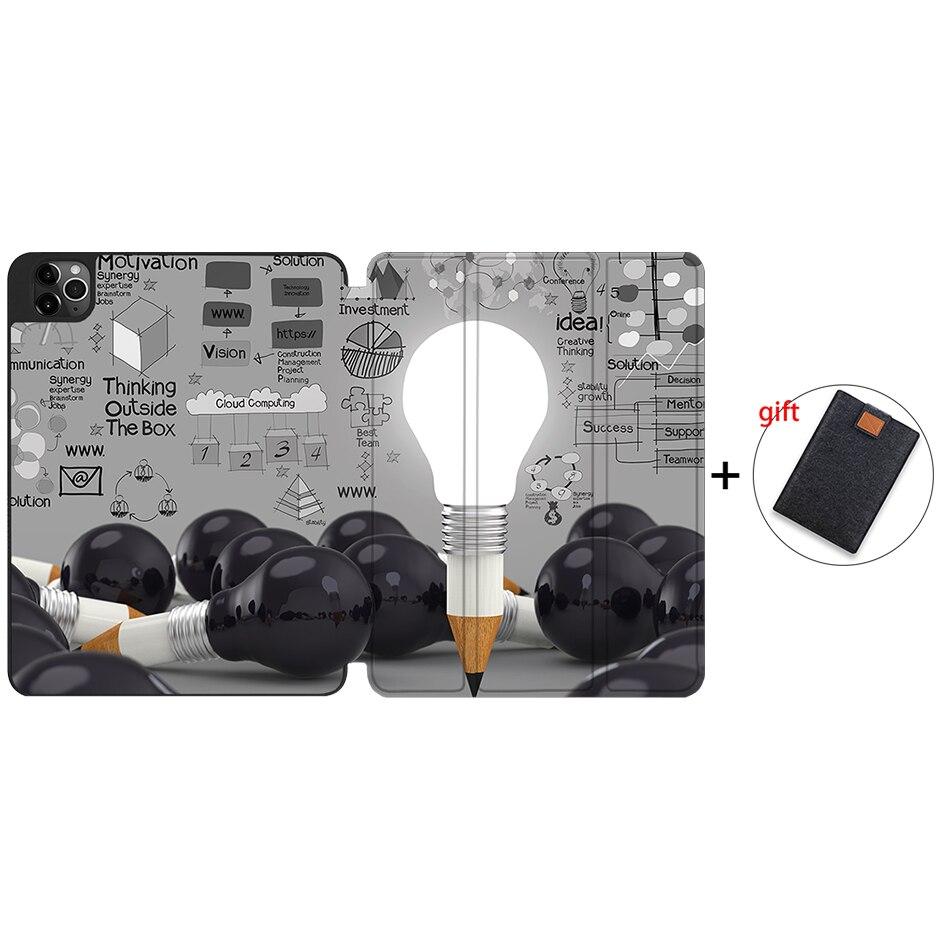 IPTPU09 Beige MTT Case For iPad 4th Gen Pro 12 9 2020 Release A2229 A2233 Soft TPU Back