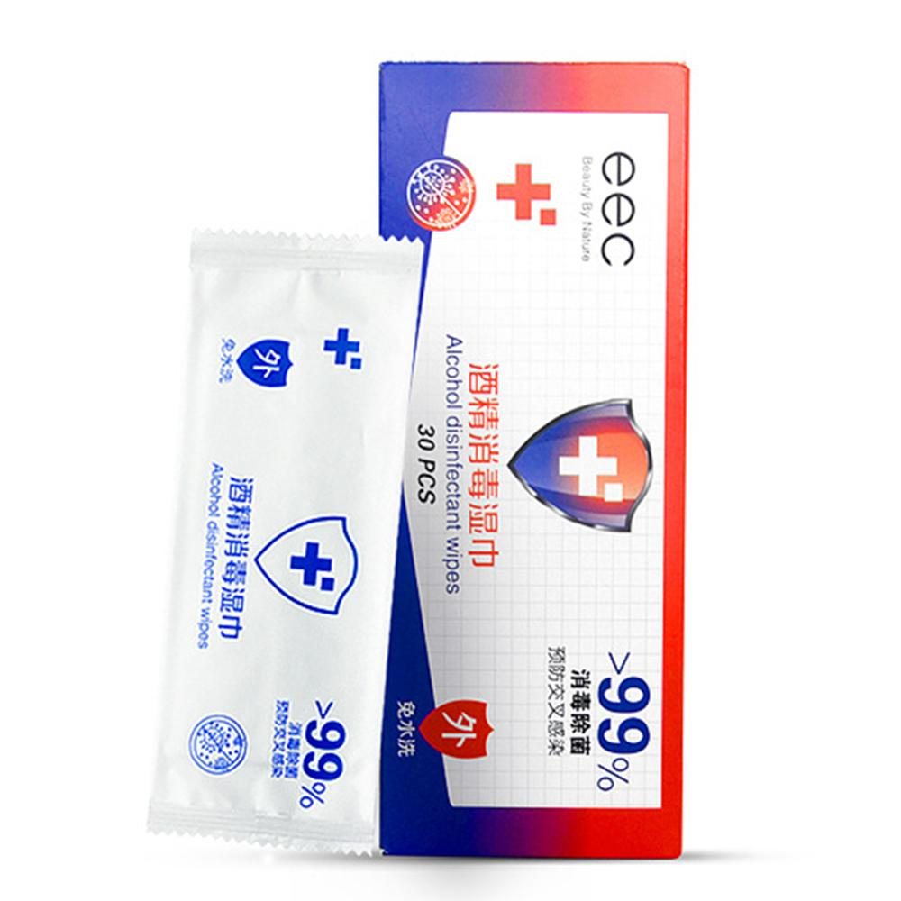 30pcs Disposable Body Cleaning Wet Wipe Disinfection Prep Swap Pad Antiseptic Mobile Phone Clean Wipe