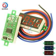 Mini voltímetro Digital de 0,36 pulgadas, medidor de voltaje CC de 4 dígitos, 0-100V, Panel comprobador de voltaje eléctrico, tres cables, 1 Uds.