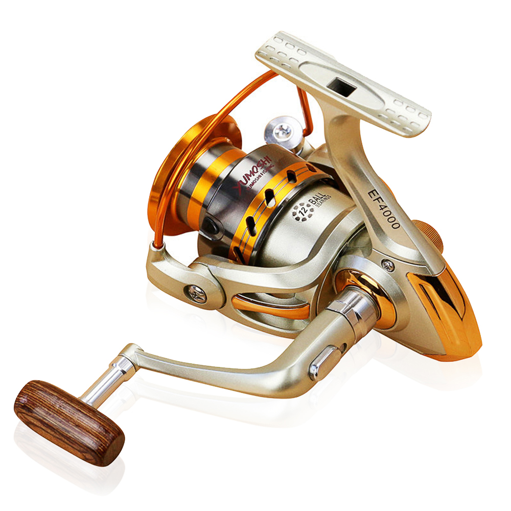 Portable Spinning Fishing Reel 12BB Wheel for Freshwater Saltwater Fishing 1000 7000 Series 5 5 1 Baitcasting Reel in Fishing Reels from Sports Entertainment