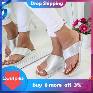 2020 Ladies slippers outdoor Flat Bottom Toe Sleeve   Women Sandals Plus Size 35-43 Wedges Shoes Torridity