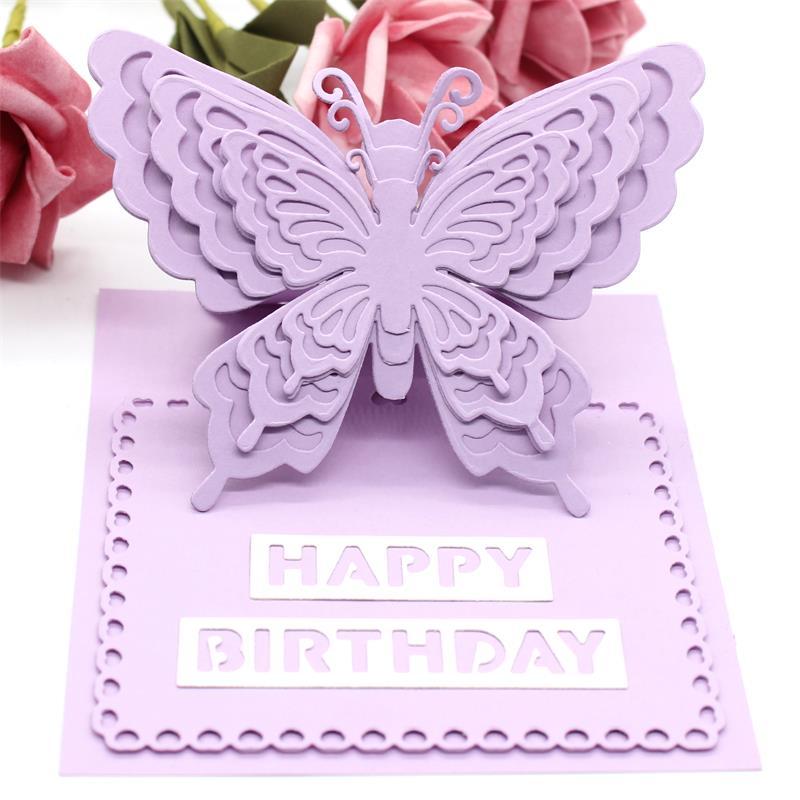 KSCRAFT Layering Butterflies Metal Cutting Dies For DIY Scrapbooking/Card Making/Kids Fun Decoration Supplies