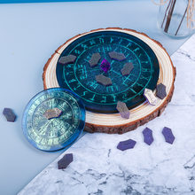 Molde de resina epoxi para manualidades, molde de silicona para adivinación de runas Fu, para disco de espejo Manual