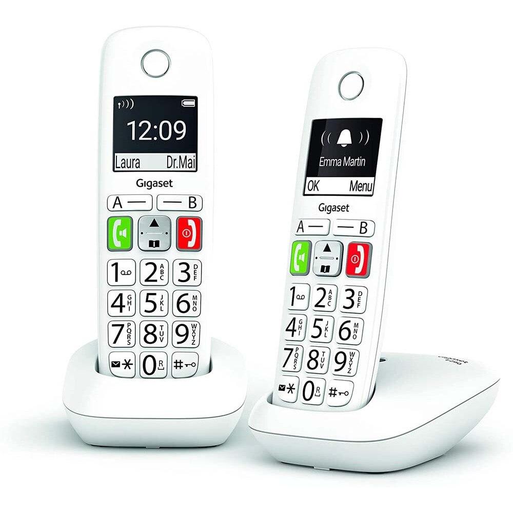 Беспроводной телефон GIGASET E290 duo blanco
