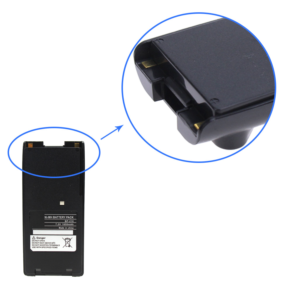 10X BP 209 1650mAh Ni MH Battery for ICOM IC T3H IC V8 IC V81 IC V82 IC U82 IC F31GT IC F40GT IC F41GS BP 209N BP 222N in Walkie Talkie Parts Accessories from Cellphones Telecommunications