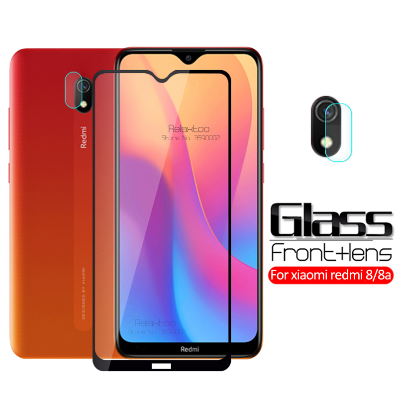2-in-1 Camera Tempered Glass For Xiaomi Redmi 8a Protective Glass Xiomi Xaomi Redmi 8a 8 A A8 Redmi8a Screen Protector Lens Film