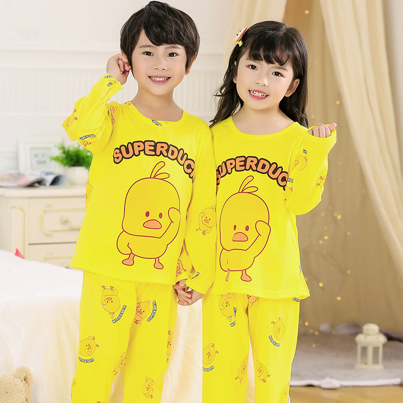 Cartoon Children Long Sleeve   Pajamas   2019 Boy Girl Spring Autumn Sleepwear Baby Nightwear Child Gift Kids Lovely Pyjamas   Set