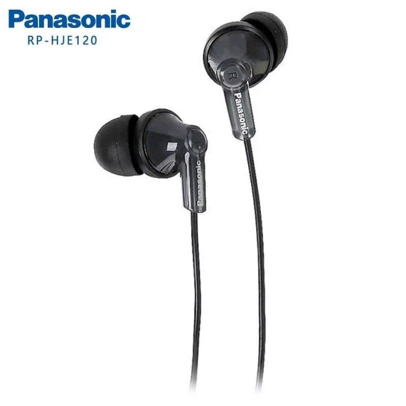 Наушники-вкладыши Panasonic RP-HJE120, гарнитура, музыкальные наушники 3,5 мм, сбалансированные, иммерсивные басы с цветным шнуром, без микрофона