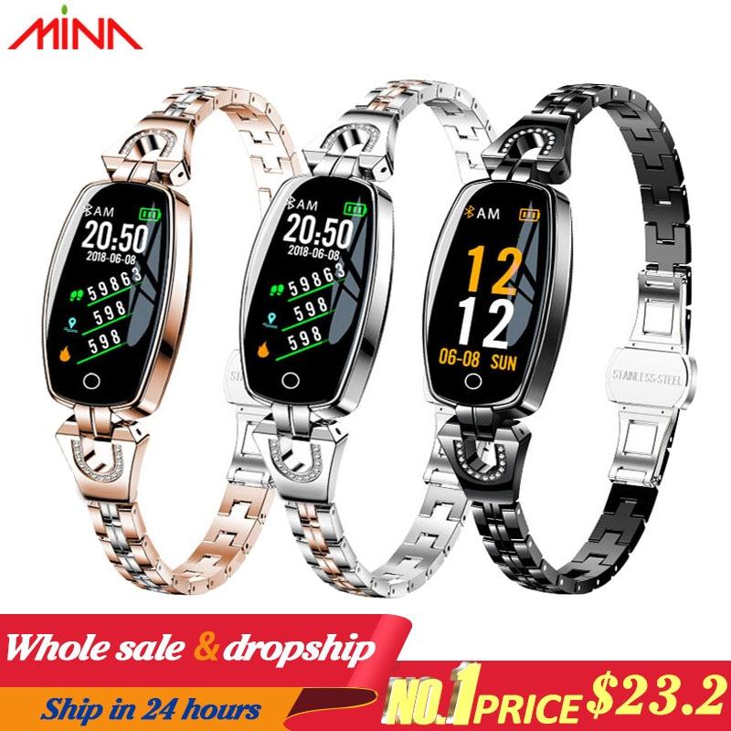 H8 Women Smart watch Fashion Heart Rate Monitor Blood Pressure Smart Band IP67 Waterproof Fitness Activity Innrech Market.com
