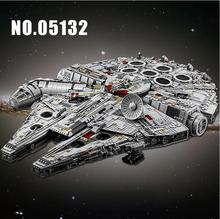 05132 Ultimate Millenniums Lepining Star Wars Falcon Model Building Blocks Set Star Ship 75192 Toys Collectors Bricks Kids Gift