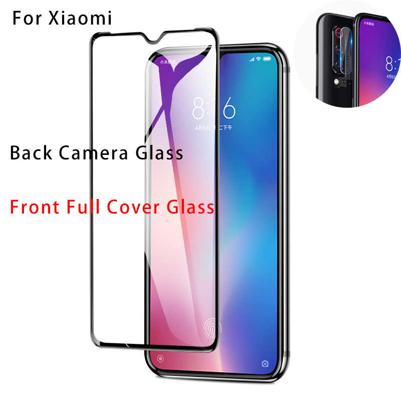 2 In 1 9D Cover Gehard Glas Xiaomi Mi 9T Pro Mi9T Camera Lens Glas Film Xiaomi Mi 9 lite 8 Pro Beschermende Screen Protector