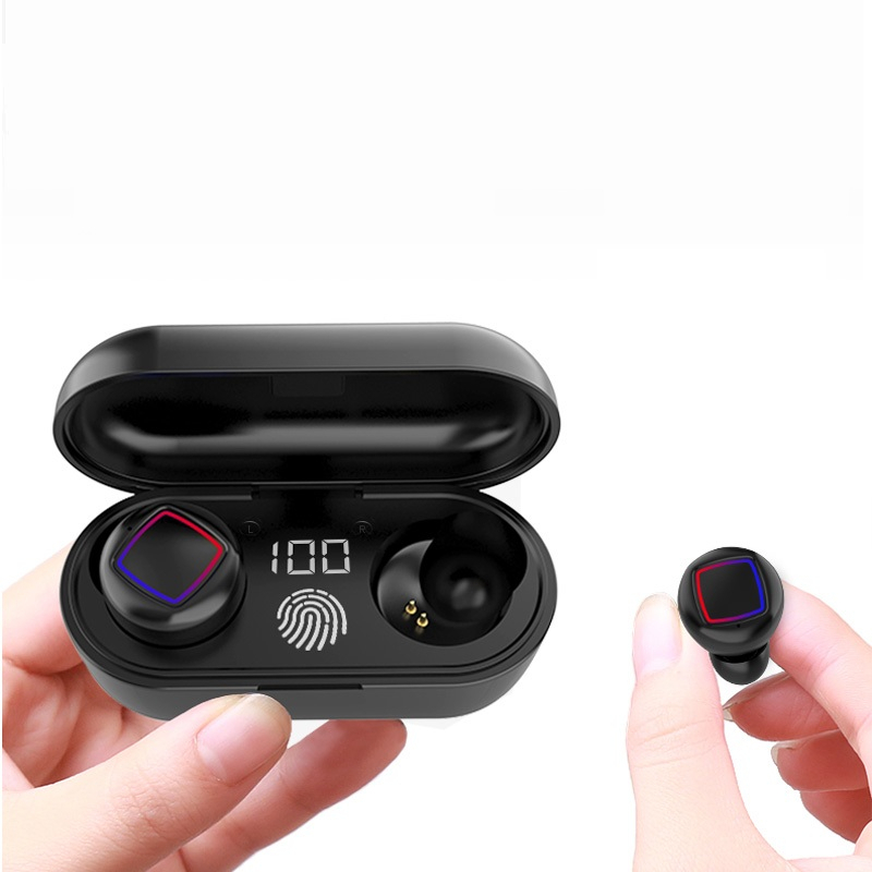 LEORY TW50 <font><b>TWS</b></font> Wireless bluetooth 5.0 Earphone HiFi Stereo Smart Headset <font><b>Touch</b></font> Bilateral Call with Charging Box image