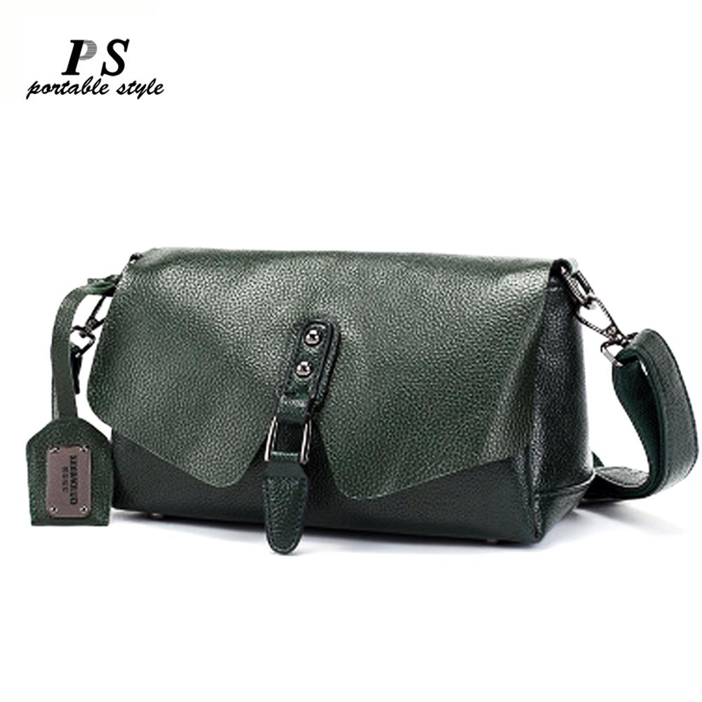 Women's Shoulder Bags High Quality 100% Genuine Leather Handbags Tote All-match Crossbody Top-handle Bags Shell Messenger Bag
