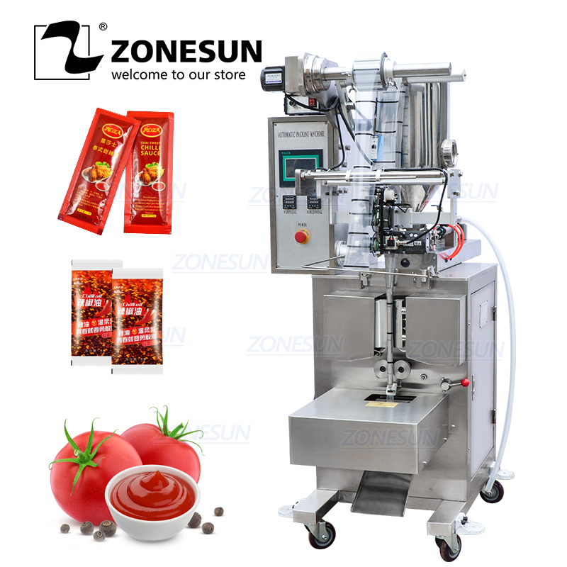 ZONESUN ZS-S100 Automatic Paste Honey Stick Oil Vinegar Water Sealing Quantitative Liquid Packaging Machine Filling Machine
