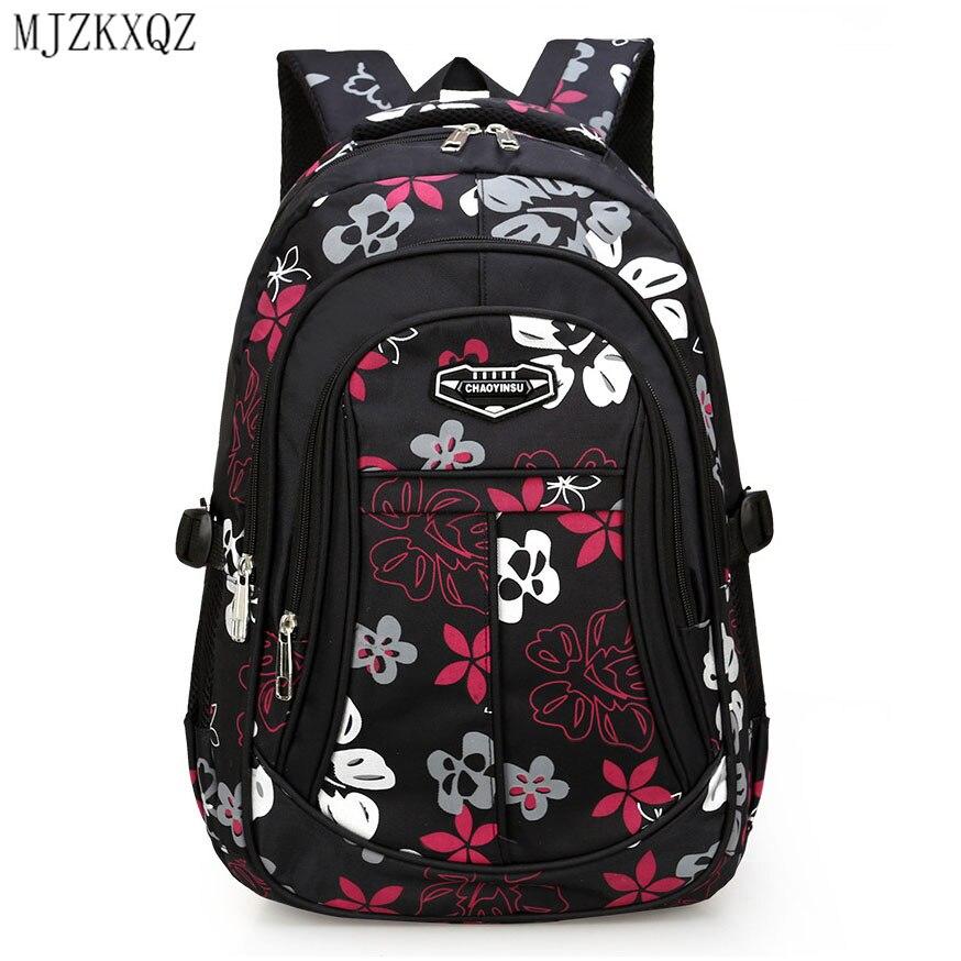 MJZKXQZ New Children Orthopedics School Bags Kids Backpack In Primary Schoolbag For Teenagers Girls Boys Waterproof Backpacks