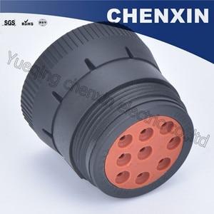 Image 3 - Черная 9 контактная герметичная фоторозетка 1,6, женские автомобильные аксессуары, проводной адаптер для подключения