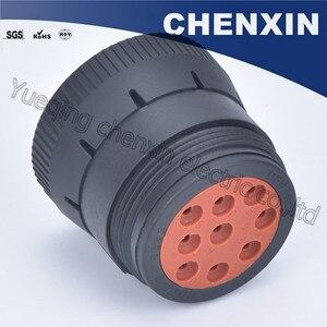 Image 3 - Czarny 9 pin uszczelniony wodoodporny automatyczne złącza wtyczka 1.6 kobiet akcesoria samochodowe połączenie przewodowe przejściówka adapter HD16 9 1939S
