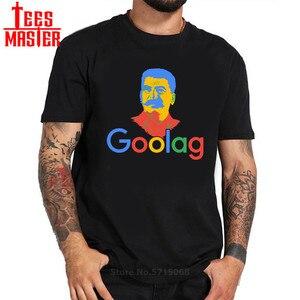 Мужские футболки с принтом Goolag Stalin Gulag Meme Political Dark Humor Goolag, хлопковая Футболка с круглым вырезом, на заказ