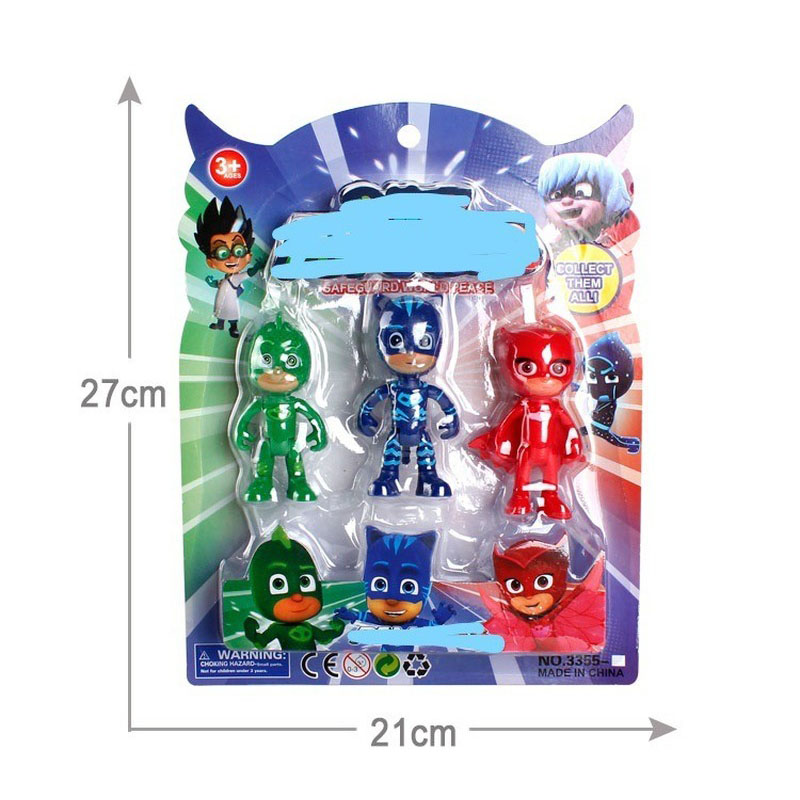 Pj Masks Flexible Limbs Character Toy Cartoon Anime Pj Catboy Owlette Gekko Action Figures Boys Toys Sets For Children With Box