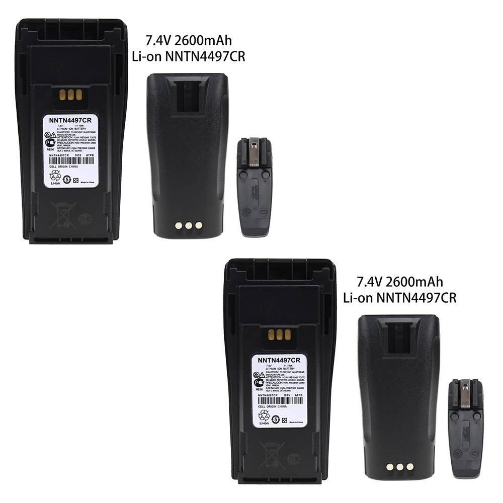 2 Pcs NNTN4497CR 2600mAh Battery Compatible For Motorola CP200 PR400 EP450 EP450S CP150 CP140 CP160 CP180 CP250