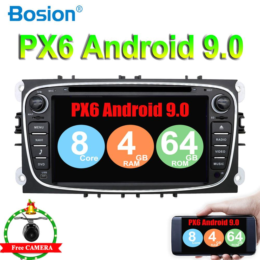 DSP 2 din Android 9.0 For Focus For Ford Mondeo Galaxy PX6 System 4G RAM+64G Wifi BT 4.0 SWC HDMI AMP 7851 Free Camera Map|Car Multimedia Player| |  - title=